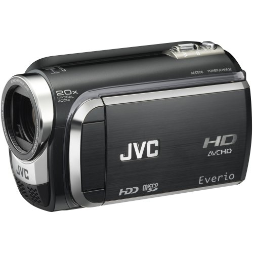 JVC GZ-HD300B High Definition Camcorder with 60GB Hard Disc Drive  &  MicroSD Format - Black