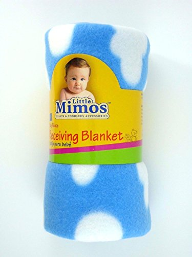 Little Mimos Fleece Receiving Blanket Pink/Blue 100 Polyester Unisex (Halloween In Worcester)