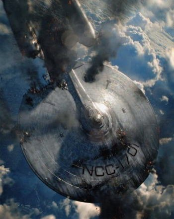 ブロマイド写真★映画『スタートレック イントゥ・ダークネス』墜落するU.S.S.エンタープライズNCC-1701