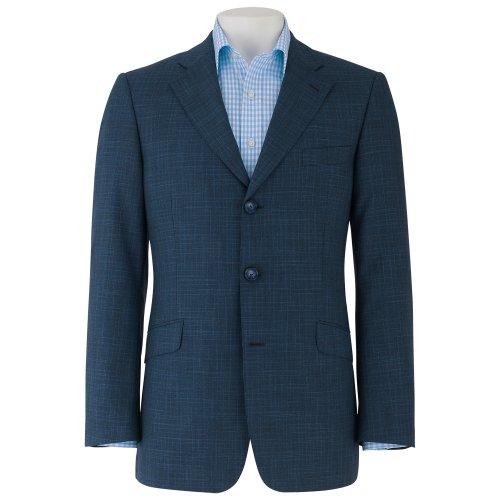 Savile Row Mens Navy Three Button Tailored Sports Jacket Size 42 Regular