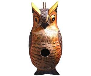Bobbo Inc Great Horned Owl Bird House