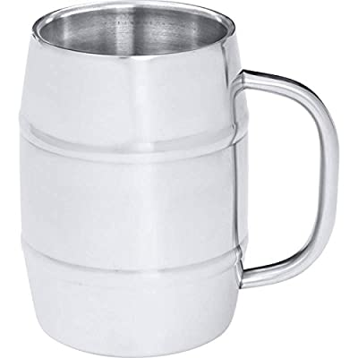 Arctic Blast 34oz Barrel-shaped Stainless Steel Beer Mug- Shaped Mug