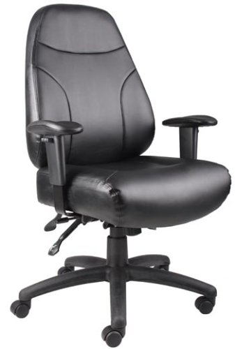 Boss Norstar B770 Leather Plus Multi-Function Office Desk Chairs with Arms