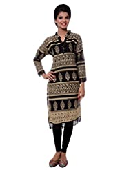 TeeMoods Womens Long Printed Kurti With Long Sleeves - B00VG8W5UI