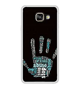 ifasho Modern Art Design words in palm stop abuse Back Case Cover for Samsung Galaxy A3 (2016)