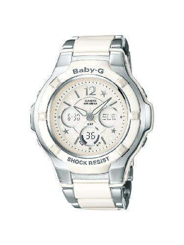 Baby-G White Combi Ladies Watch &#8211; Bga-120C-7B1Er