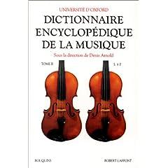 Dictionnaire encyclopédique de la musique, tome 2
