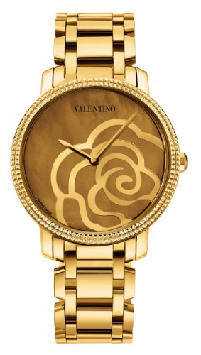 Valentino Women's V56SBQ5043S080 Rose Rose Gold Brown Mother Of Pearl  Watch