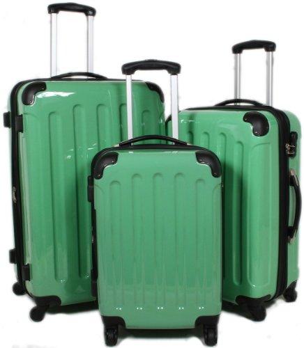 BEIBYE GRÜN 3 tlg. Reisekofferset (XL/L/Boardcase)