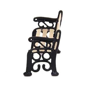 1/24 Dollhouse Miniature Furniture Garden/Village Patio Park Bench