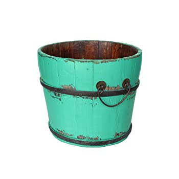 Antique Revival Vintage Chatwell Bucket, Turquoise