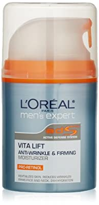 L'Oreal Paris Men's Expert Vita Lift Anti-Wrinkle & Firming Moisturizer, 1.6 Fluid Ounce