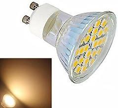 1 pcs ding yao GU10 5W 24X SMD 5050 600LM 2800-35006000-6500K Warm WhiteCool White Spot Lights AC 22