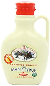 Shady Maple Farms Organic Maple Syrup, Grade B, 32-Ounce Jug