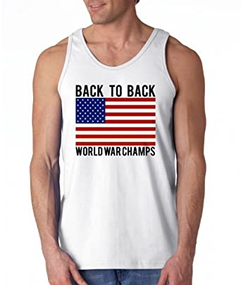 USA Back to Back World War Champs Men's Tank Top (XX-Large)