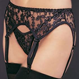 Leg Avenue Women's 2-Piece Lace Garter Belt Set with Matching Thong #8888