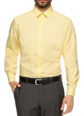 s.Oliver SELECTION Herren Businesshemd Slim Fit (Fitted) 12.305.21.0903, Gr. 42, Gelb (1310)