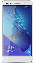 Honor 7 Smartphone débloqué 4G (Ecran: 5,2 pouces - 16 Go - Double Nano SIM - Android 5.0 Lollipop) Argent/Blanc