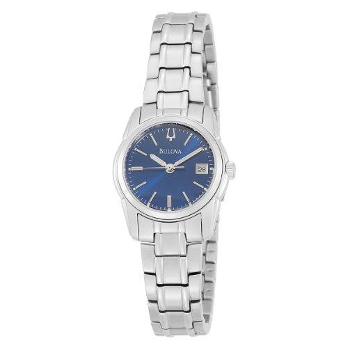Bulova Women'S 96M107 Blue Dial Bracelet Watch