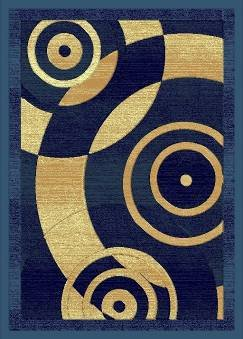 E515 Contemporary Modern Transitional Abstract Dark Blue 8x10 8ft 10ft Rug Carpet Actual Size 7'9