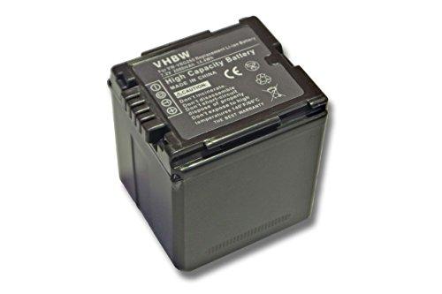 vhbw Li-Ion Akku 2000mAh (7.2V) für Kamera Panasonic SDR-H50, H80, H90, H250, H280, VDR-D50, D160, D220, D310, NV-GS320 wie VW-VBG130.