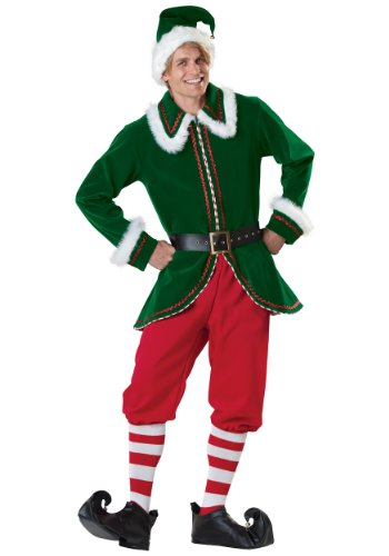 Incharacter Mens Santa'S Elf Helper Christmas Holiday Fancy Costume