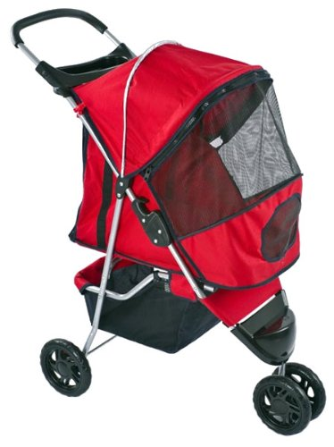 Red Pampered Pet Stroller & Jogger For Small Dogs And Cats