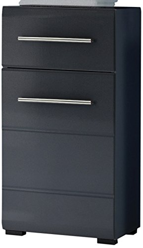 BEGA-36-349-C0-Badezimmer-Kommode-1-trig-1-Schubkasten-Hochglanzfronten-circa-38-x-76-x-30-cm-grau-metallic