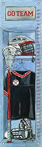 Oopsy Daisy Growth Charts Lacrosse Locker by Jones Segarra, 12 by 42-Inch