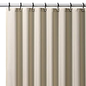 Ivory Nylon Soft As Silk Fabric Shower Curtain Liner 72 Long