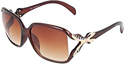 Omnesta Women's Rectangular Sunglasses (Brown) (PD052)