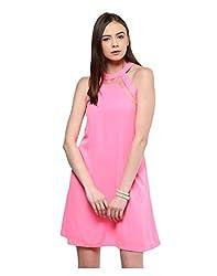 Yepme Women's Pink Polyester Dresses - YPMDRES0195_M