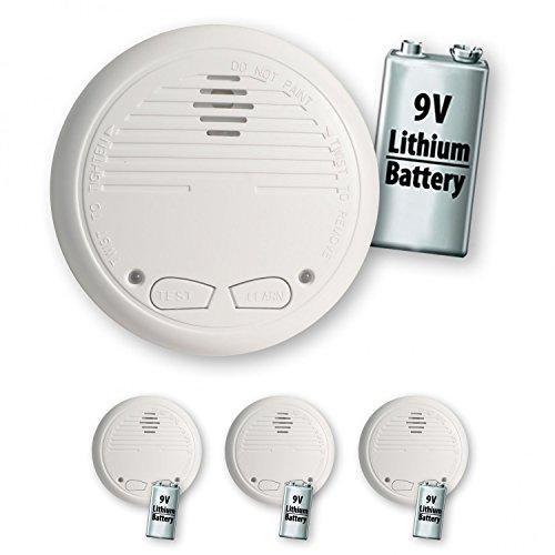 3 Nemaxx WL10 Funkrauchmelder mit 10 Jahre Lithium Batterie Rauchmelder Brandmelder Set Funk koppelbar vernetzt - nach EN 14604