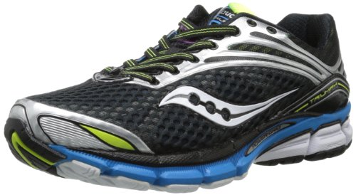 Saucony Men's Triumph 11 Running Shoe,Black/Blue/Citron,11 M US
