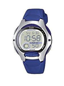 Casio CASIO Collection - Reloj digital unisex de cuarzo con correa de resina azul (cronómetro, alarma, luz) - sumergible a 50 metros de Casio