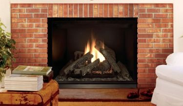 """40"""" Elite Direct Top-Vent Ng Louverless Electric Ignition Fireplace"""