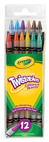 Crayola Twistable Colored Pencils, 12 Count (68-7408)
