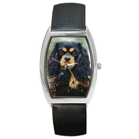 Victorinox Swiss Army Cavalier King Charles Spaniel Barrel Style Metal Watch