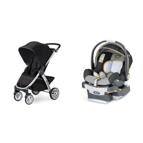 Chicco Bravo Stroller & Chicco Keyfit Infant Car Seat in Sedona - 1