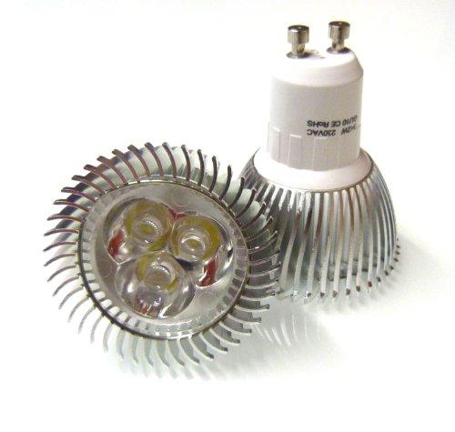 8 X GU10 LED LIGHT BULBS ENERGY SAVING 6W DAY WHITE ** 3x2W HIGH POWER FOR REPLACING 50W - 60W HALOGEN **