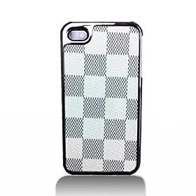 Premium 2 Tone White Gray Checker (Like Louis Vuitton) Leatherette