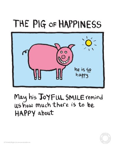 Edward Monkton - The Pig of Happiness Fine Art Print