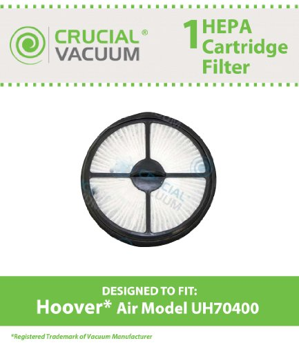 Hoover Air Model UH70400 HEPA Style Filter Cartridge Designed To Fit Hoover WindTunnel Air Model UH70400; Compare To Hoover Part # 303902001; Designed & Engineered By Crucial Vacuum (Hoover Hepa Filter 303902001 compare prices)