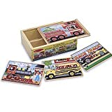 Melissa &amp; Doug Deluxe Vehicles in a Box Jigsaw Puzzles