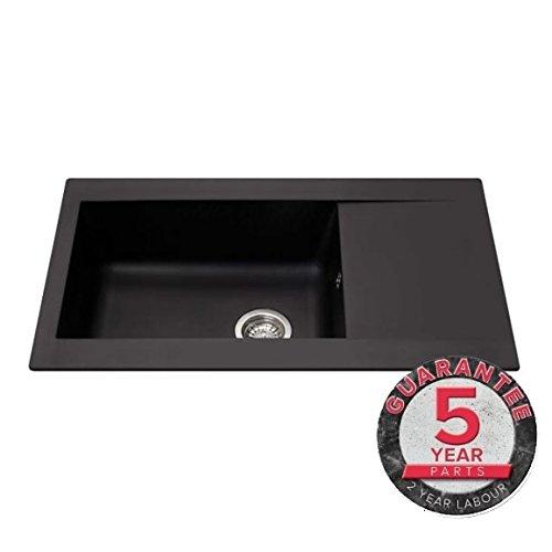 CDA Composite Single Bowl Kitchen Sink in Black KP31