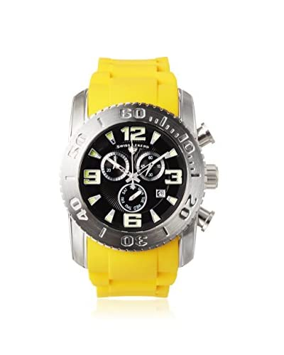 Swiss Legend Men's 10067-01-YLS Commander Yellow/Black Silicone Watch