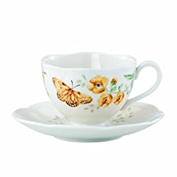 Lenox Butterfly Meadow Fritillary Cup and Saucer Set