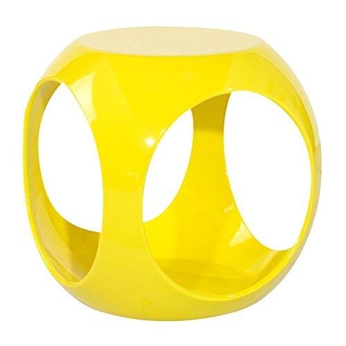 NEG-Design-Tisch-SURYA-gelb-Wrfel-Beistelltisch-mit-auergewhnlicher-Formgebung