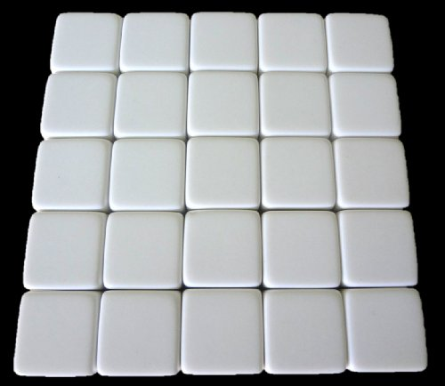 25 Blank White Dice 16MM - 1