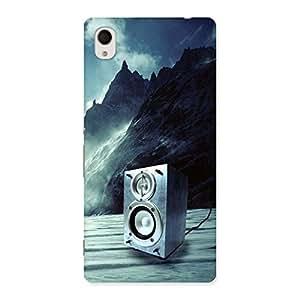 Impressive Speaker Of Snow Back Case Cover for Sony Xperia M4